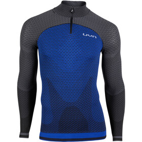 UYN Running Alpha OW T-shirt Manches longues demi-zip Homme, persian blue/charcoal